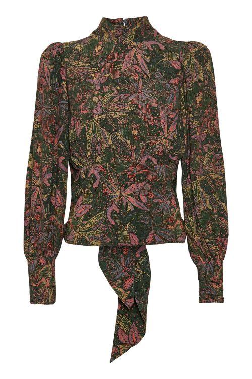 Gestuz Bluse Jela Blouse Green Vintage Front1
