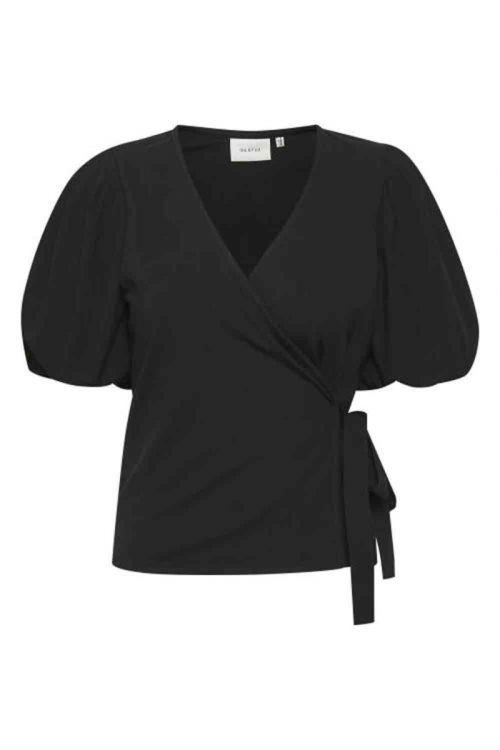 Gestuz - Bluse - Nema Wrap Blouse - Black