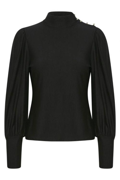 Gestuz - Bluse - RifaGZ Button Blouse - Black