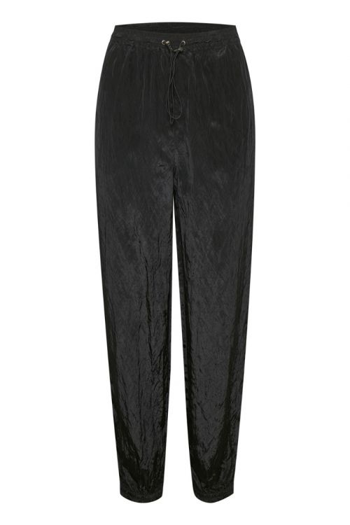 Gestuz - Bukser -  Cleo GZ HW pants - Black