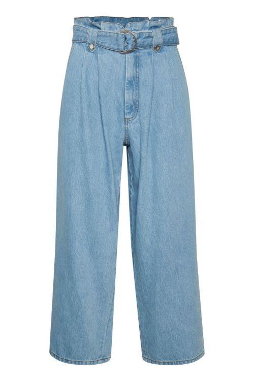 Gestuz - Jeans - Aleah HW Culotte - Light blue
