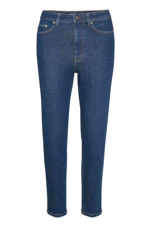 Gestuz - Jeans - AstridGZ HW Slim Jeans - Denim Blue