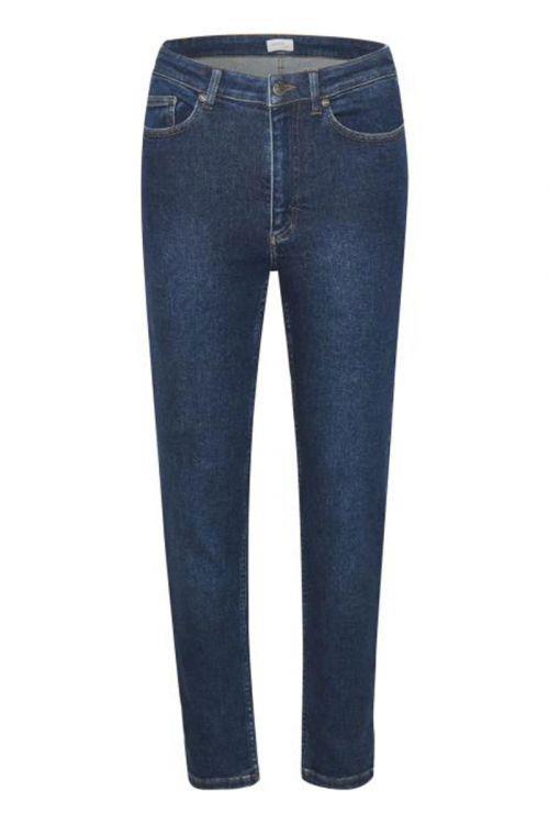 Gestuz Jeans AstridGZ HW Slim Jeans NOOS Denim Blue Front