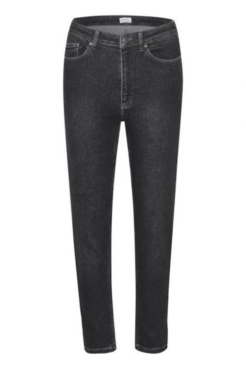 Gestuz - Jeans - Astrid HW Slim Jeans - Washed Black