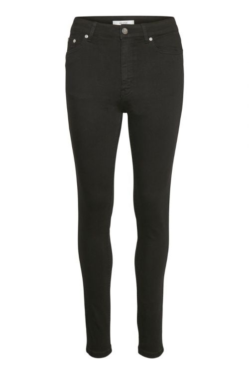 Gestuz Jeans Emily HW Skinny Jeans Black/Black Front