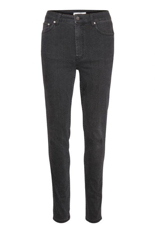 Gestuz - Jeans - Emily HW Skinny Jeans - Washed Grey