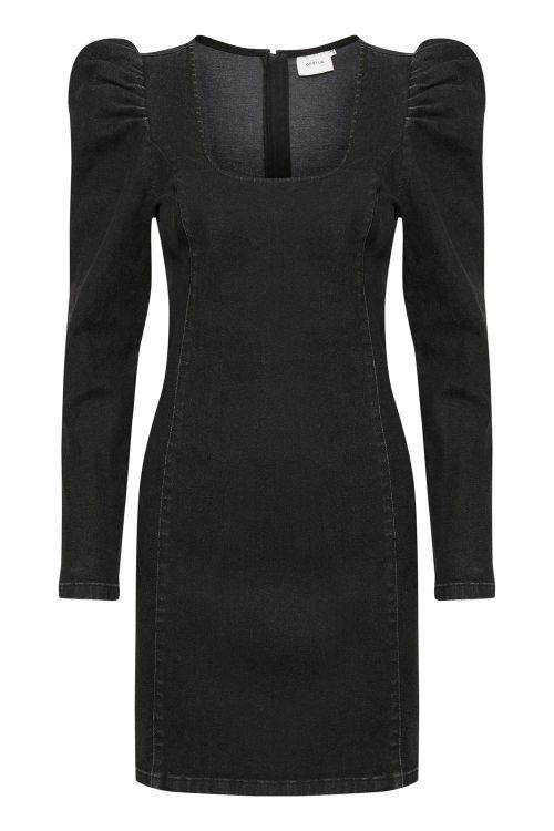 Gestuz Kjole Astrid GZ Short Dress Washed Black Front1