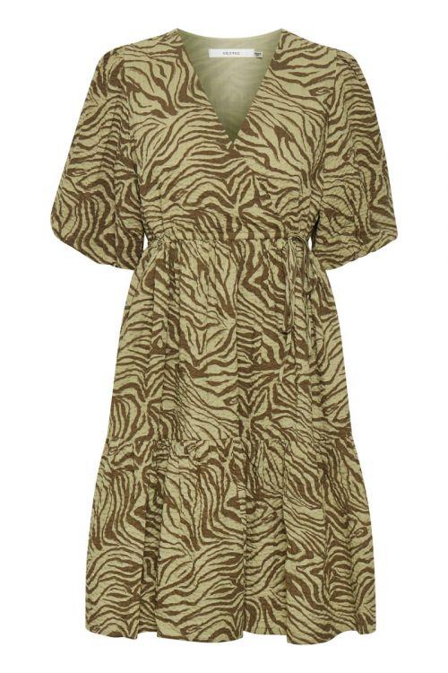 Gestuz Kjole Avery Short Dress Elm zebra Front