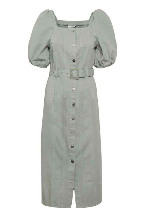 Gestuz - Kjole - Bellio Dress - Slate Gray