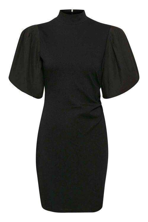 Gestuz Kjole Bima Turtleneck Dress Black Front1