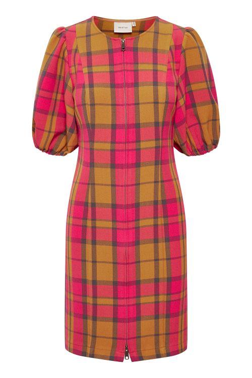 Gestuz Kjole Civa Dress Pink Check Front