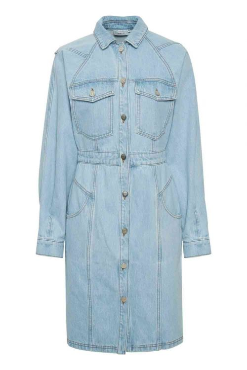 Gestuz - Kjole - Dacy LS Dress - Light blue vintage