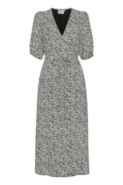 Gestuz - Kjole - Dis Wrap Dress - Grey Wave