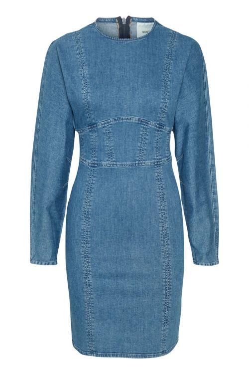 Gestuz - Kjole - Eline Dress - Denim Blue
