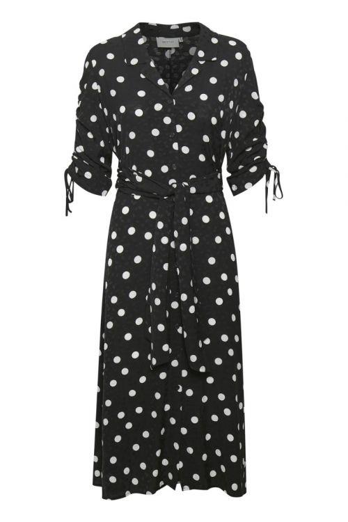 Gestuz - Kjole - Fjola Dress  - Black w/Grey Dot