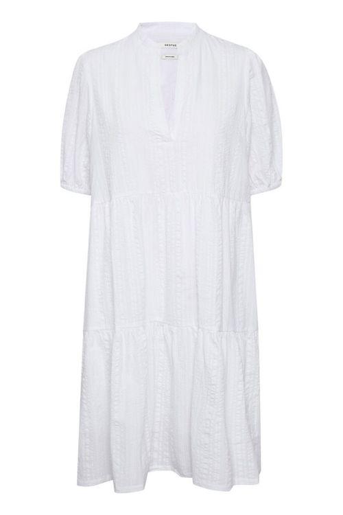 Gestuz Kjole Hevin Short Dress Bright White Front