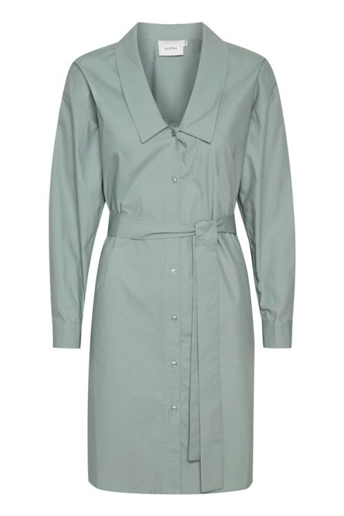 Gestuz - Kjole - Jilan Shirt Dress - Slate Gray