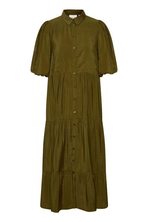 Gestuz Kjole Kirita Dress Dark Olive Front
