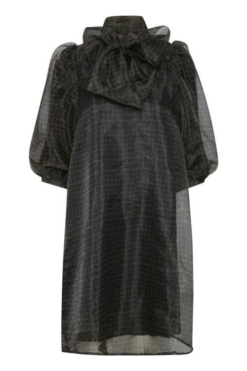 Gestuz - Kjole - LiviaGZ Short Dress - Lattica Carafe Check