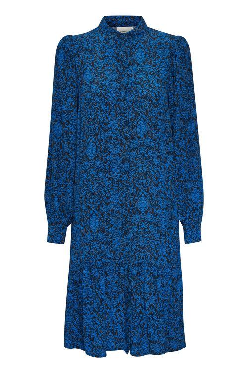 Gestuz Kjole Lorali Dress Blue Black Vintage Front