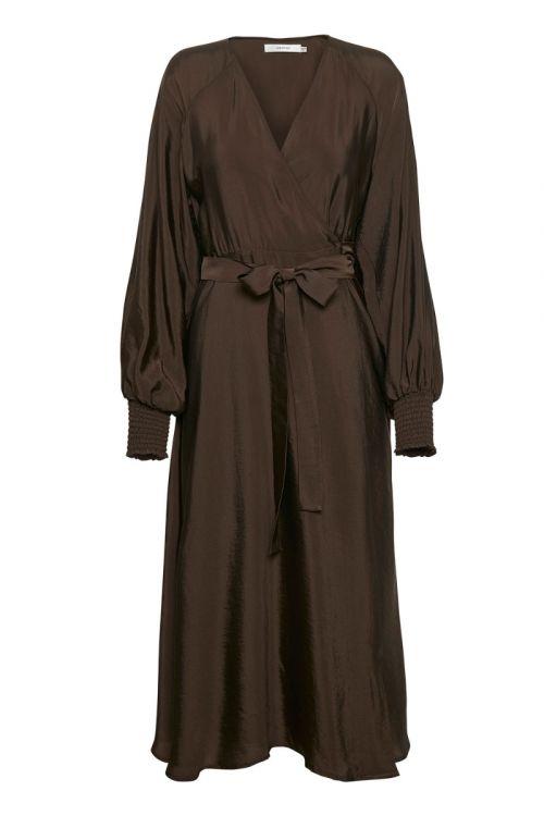Gestuz - Kjole - Luella Wrap Dress - Coffee Bean