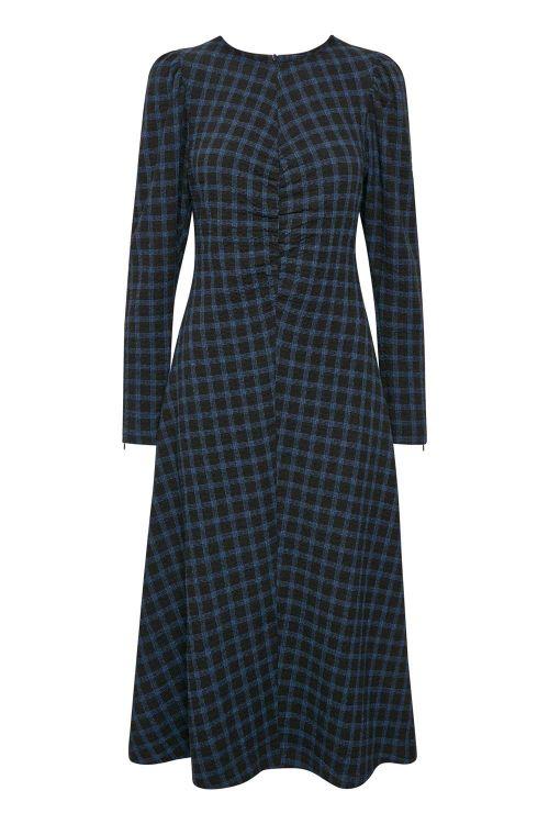 Gestuz Kjole Lydia Dress Blue Check Front
