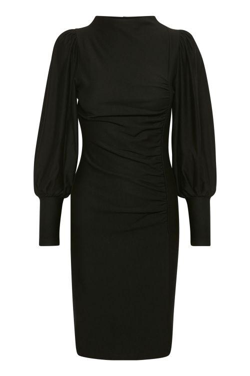 Gestuz Kjole Rifa GZ Puff Dress Black Front