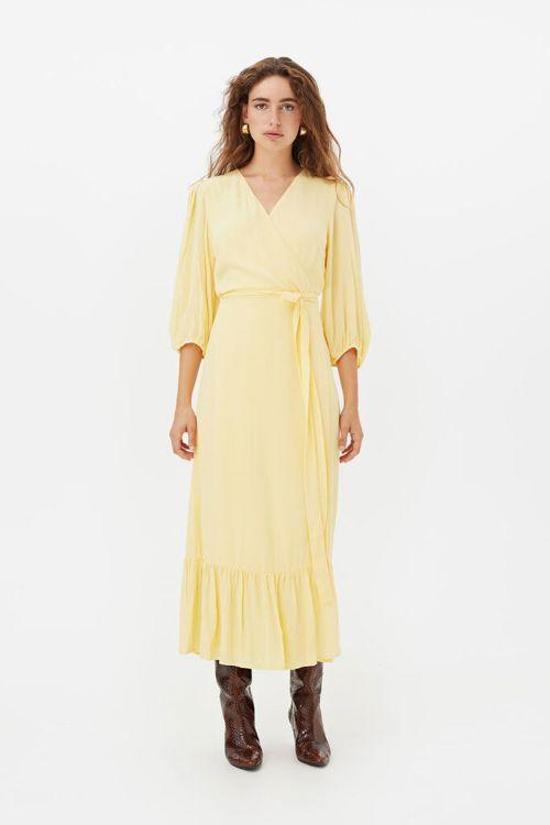 Gestuz Kjole Uriel Wrap Dress Golden Haze Front
