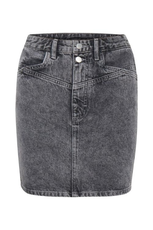 Gestuz - Nederdel - Aleah GZ Mini Skirt - Storm Grey