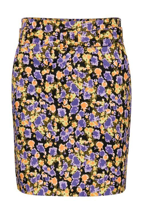 Gestuz Nederdel Camea GZ Skirt Yellow Splash Front