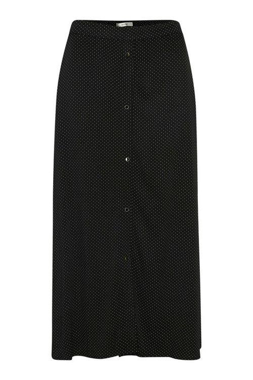 Gestuz Nederdel Colina Skirt Black Front