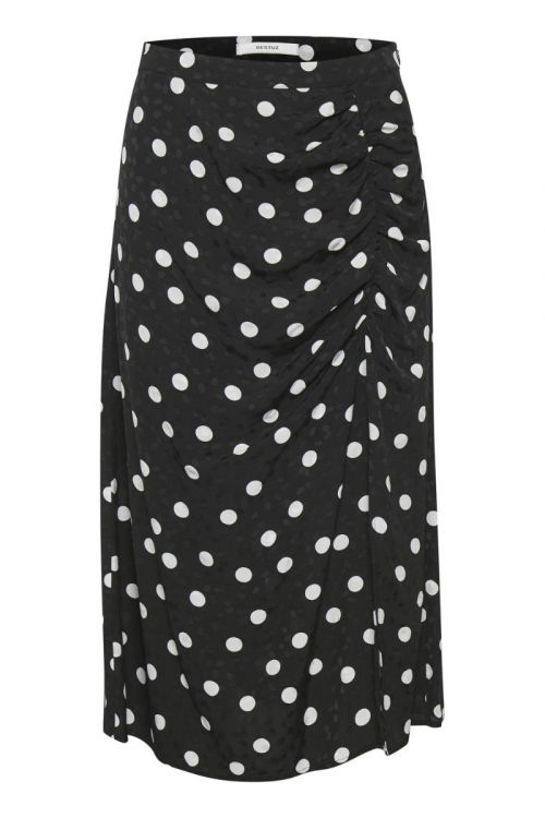 Gestuz - Nederdel - Fjola Skirt - Black w/Grey Dot