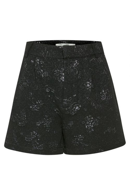 Gestuz - Shorts - AfiaGZ HW Shorts - Black Shiny Flower