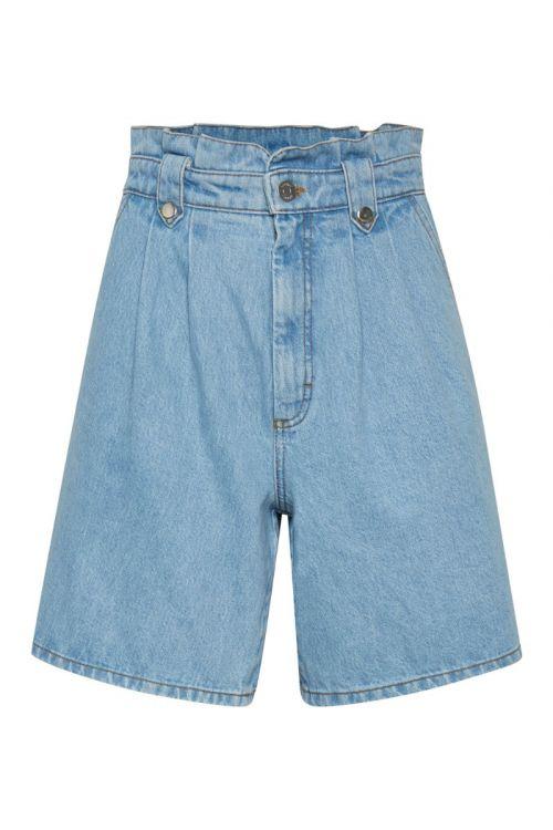 Gestuz - Shorts - Aleah HW Shorts - Light Blue