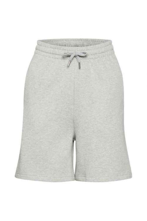 Gestuz - Shorts - Nankita HW Shorts - Light Grey Melange