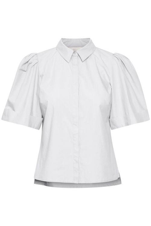 Gestuz - Skjorte - Halio SS Shirt - Bright White