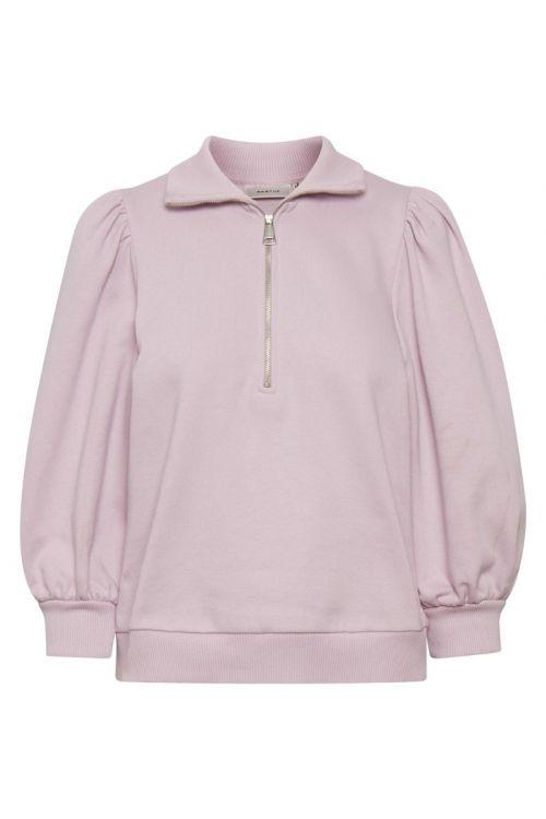 Gestuz - Sweat - Nankita SS Zipper Sweatshirt - Fragrant Lilac