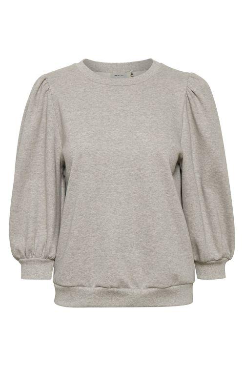 Gestuz Sweat Nankita Sweatshirt Grey Melange Front