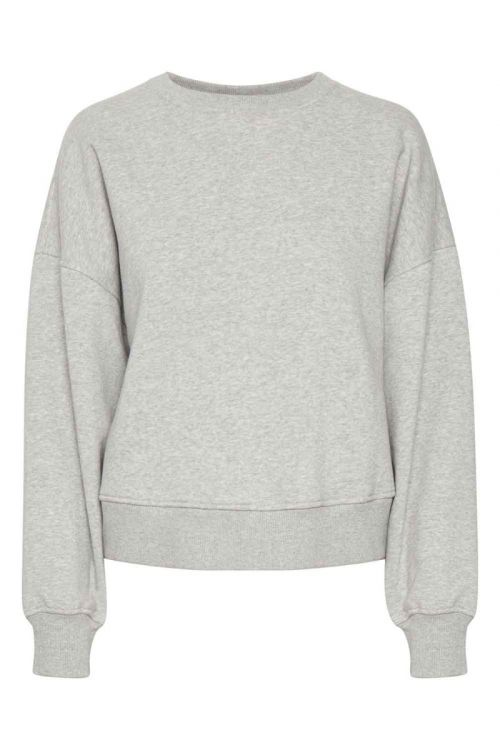Gestuz Sweat Rubi GZ Sweatshirt Light Grey Melange Front