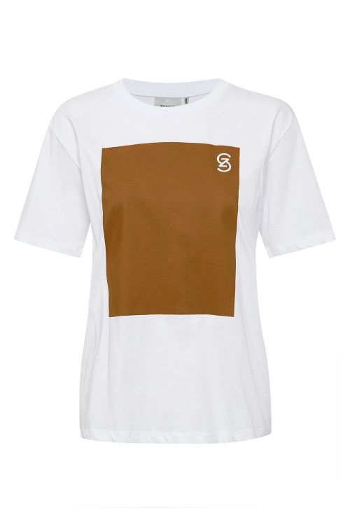 Gestuz T-shirt Mynagz Tee Bright White Front