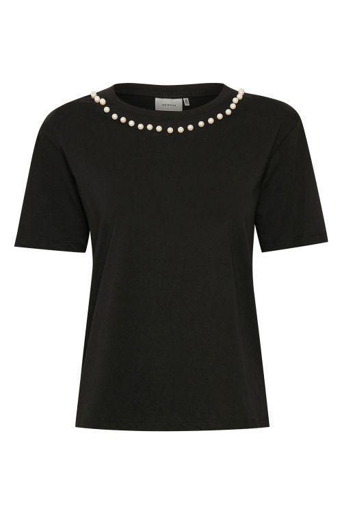Gestuz T-shirt Pearl GZ Tee Black Front
