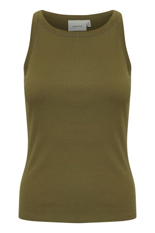 Gestuz Top Rolla SL Top Dark Olive Front
