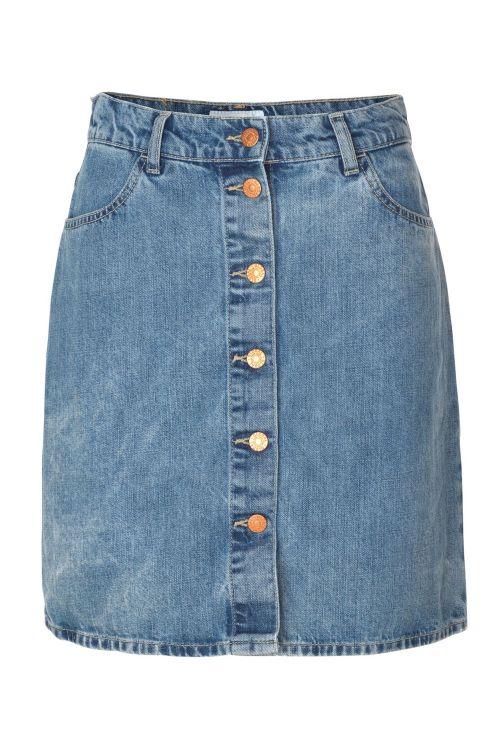 Global Funk Nederdel Skye Skirt Rodeo 922 Vintage Blueish Front