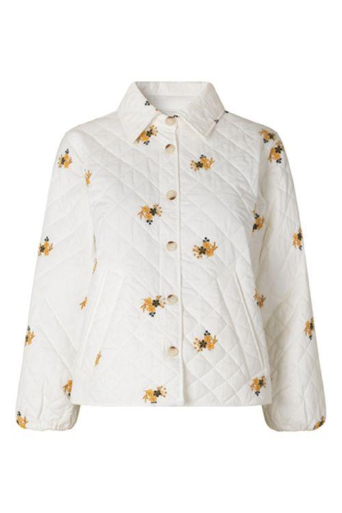 Global Funk Jakke Marrit Quilted Jacket Embroidered Flower Front