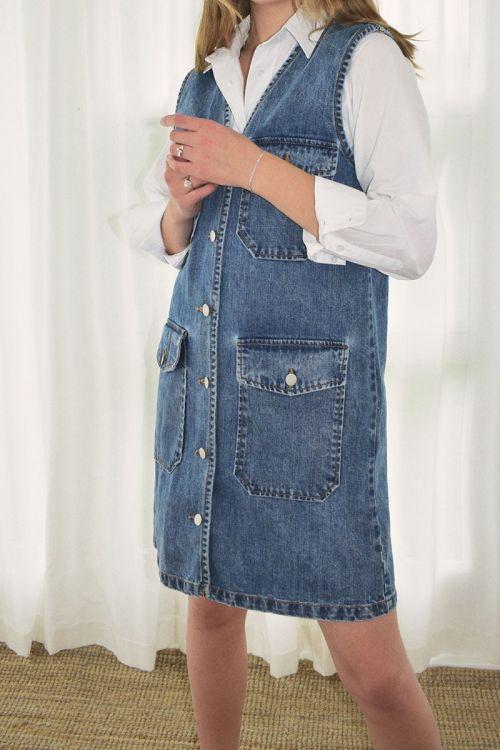Global Funk - Kjole - Cailo Dress - Mid Vintage Blue