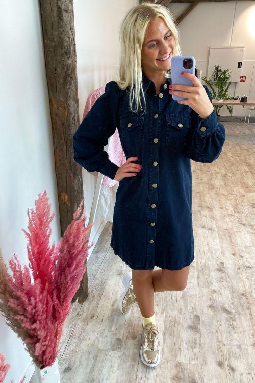 Global Funk Kjole Nadine Dress Greyish Blue Hover