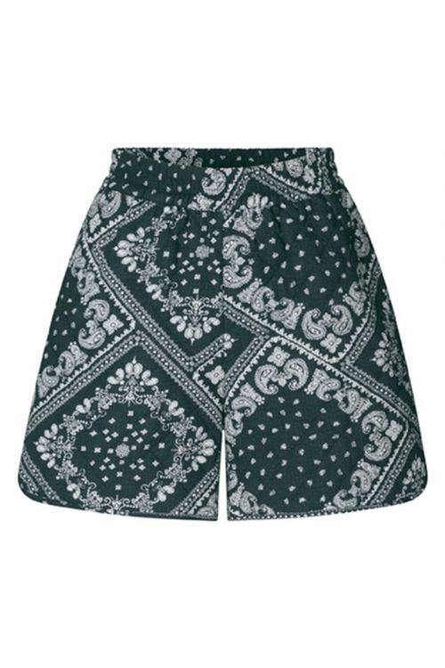 Global Funk Shorts Mosley Qulited Shorts Dark Paisley Front