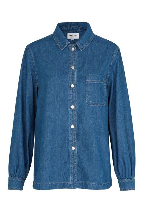 Global Funk Skjorte Maita Shirt Dark Blue Vintage Front