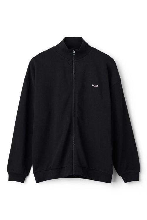 H2O Bluse Base Woman Zip Sweat Black Front