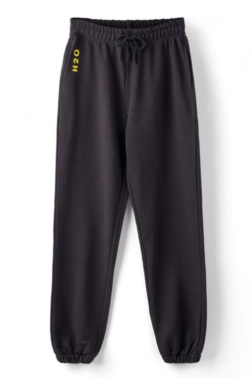 H2O Bukser Lolland Sweat Pant Black/Vibrant Yellow Front
